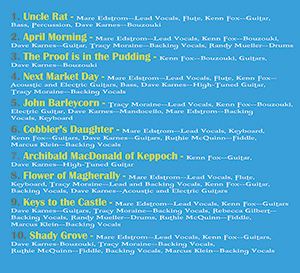 The Proof is in the Pudding - CD Credits