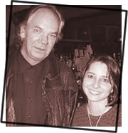 Mare with Eric Taylor at the Cafe Carpe November 2003